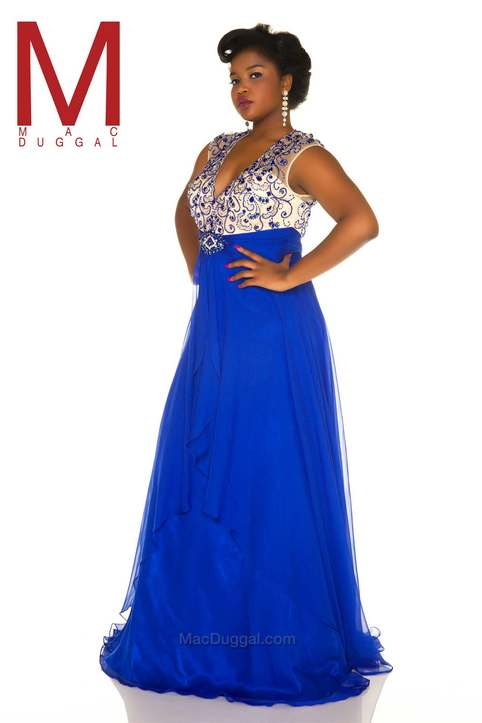 Plus Size Prom Dresses by American Brand Mac Duggal, Spring-Summer 2016