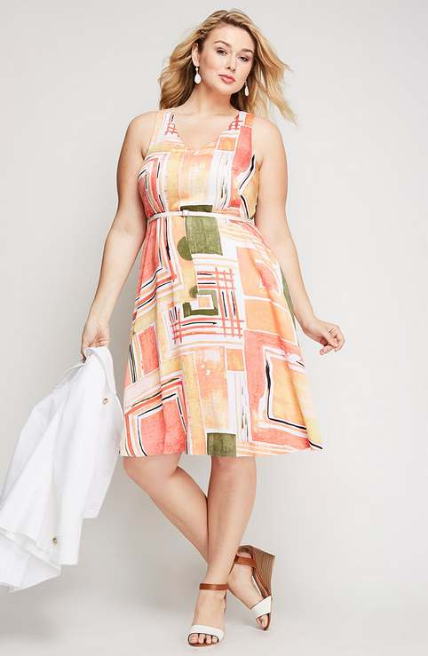Plus Size Dresses by American Brand Lane Bryant, Spring-Summer 2016